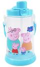 Peppa Pig 粉紅豬小妹 佩佩豬 胖胖吸管水壺 650ml 藍 PP54871B