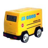 創意小汽車存錢罐運鈔車鬧鐘時鐘密碼箱儲蓄兒童硬幣紙幣儲錢玩具台秋節88折