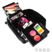 化妝箱專業多層大容量手提化妝箱 收納箱紋繡工具箱  igo可然精品鞋櫃