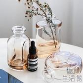 花瓶玻璃透明小細口插花干花桌面客廳擺件北歐【極簡生活】