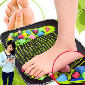 居家仿鵝卵石路按摩腳墊.腳底按摩墊按摩步道.腳踏墊足底穴道健康步道.踩踏運動健康之路