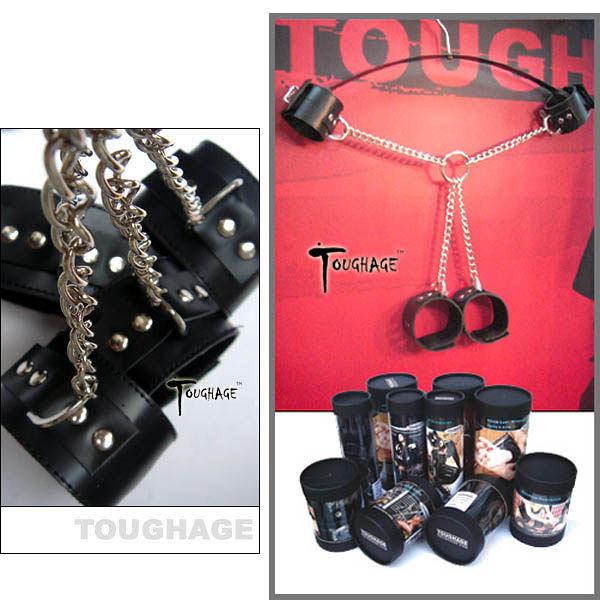 《蘇菲雅情趣用品》美國TOUGHAGE*X Chain Ankle Cuffs Fetter X型克制套件