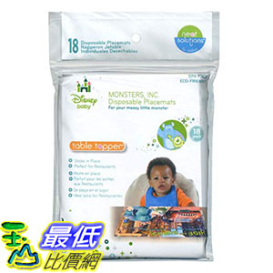 [7美國直購] 迪士尼 Neat Solutions Disney Monsters, Inc Biodegradable Table Topper Disposable 18 Count