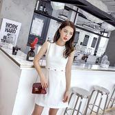 【好康618】2018夏季小晚禮服洋裝修身顯瘦無袖連身裙