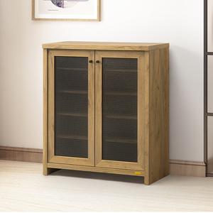 伊莉詩透氣雙門鞋櫃 黃金橡木色 採E1板材 型號0D035FL