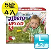 麗貝樂 Libero 褲型紙尿褲/尿布 L 5號 42片x4包 /敢動褲