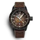 飛虎隊限量機械腕錶-棕褐