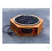 熱狗機 烤腸機 火山石烤腸機電熱烤腸機臺灣火山石熱狗家用燃氣烤腸機LX220V 莎瓦迪卡