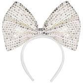 萬聖 穿戴 裝扮 大蝴蝶結髮箍-白