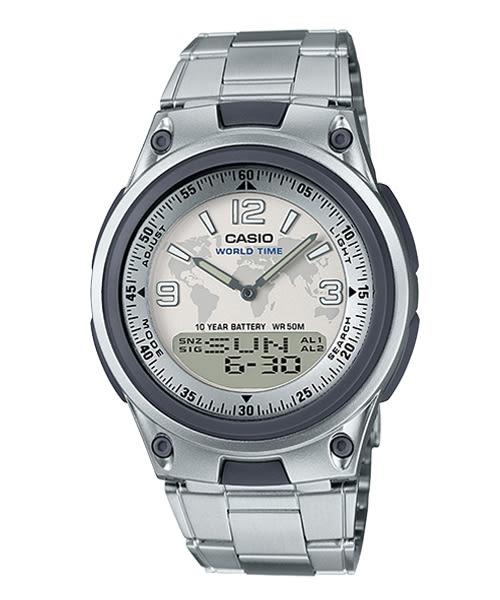 【CASIO宏崑時計】CASIO卡西歐不鏽鋼雙顯電子錶 AW-80D-7A2 50米防水 台灣卡西歐保固一年