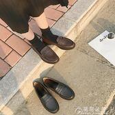 英倫風女鞋黑色小皮鞋女生夏季潮百搭韓版學院風原宿軟妹圓頭單鞋   花間公主