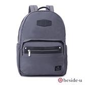 beside u BNUM 防盜刷中性多功能多口袋13吋筆電行李箱拉桿後背包 – 深灰色 原廠公司貨