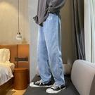 牛仔褲 褲子直筒美式寬鬆大闊腿牛仔褲男 果果生活館