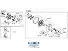 【麗室衛浴】德國 GROHE 原裝龍頭專用陶瓷閥芯 47364