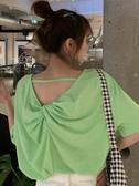 春夏裝新款性感露背小心機打底衫上衣時尚白色寬鬆短袖T恤女