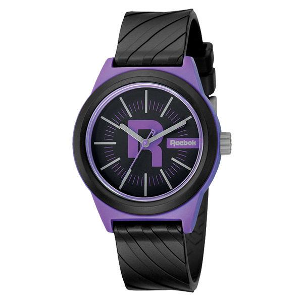 Reebok Swirl系列潮流漩渦運動腕錶-紫x黑