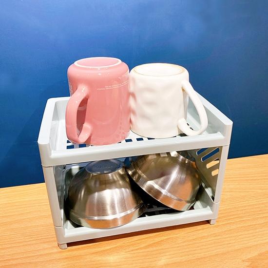 置物架 收納架 杯架 餐具架 整理架 展示架 分層收納 化妝品收納 浴室架 雙層收納架【N038】慢思行