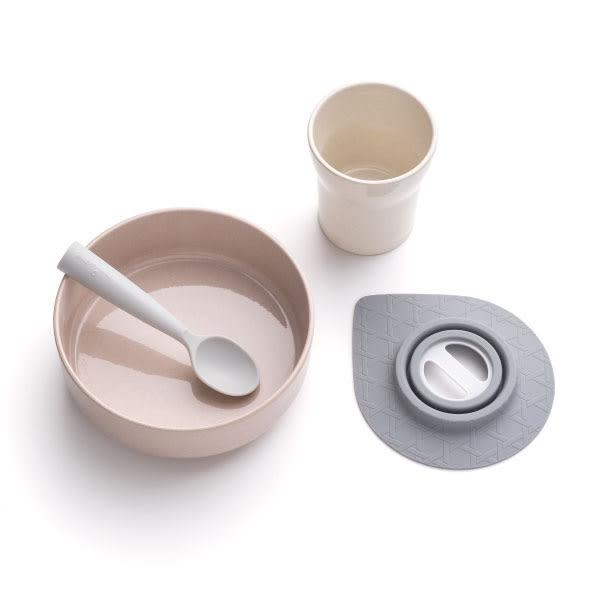 MINIWARE 點心時光組(水杯+點心碗組+湯匙)/餐具 鮭魚芝麻