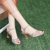 魚口鞋 魚嘴涼鞋女粗跟細跟仙女風女士高跟鞋夏季女鞋子時尚百搭 【韓國時尚週】