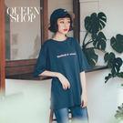 Queen Shop【01038156】字母印花短袖棉T 兩色售*現+預*