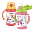 『121婦嬰用品館』Nuby不鏽鋼真空學習杯-瓢蟲(細吸管) 280ml