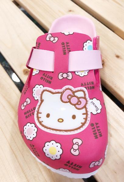 【震撼精品百貨】Hello Kitty 凱蒂貓~台灣製Hello kitty正版兒童勃肯懶人拖鞋-大頭桃(15~22號)