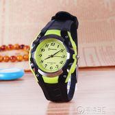 兒童手錶男孩糖果色防水石英錶中小學生女款公主女孩指針電子錶 igo電購3C