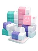 植護餐巾紙抽紙家用衛生紙巾小包面巾紙嬰兒原木整箱批實惠裝40包