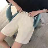 牛仔五分褲夏季韓版寬鬆百搭bf風高腰闊腿直筒中褲ins工裝牛仔褲五分褲女潮 【四月新品】