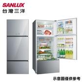 【SANLUX 台灣三洋】528L變頻三門采晶玻璃電冰箱SR-C528CVG