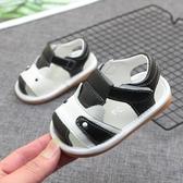 夏牛皮男寶寶涼鞋女1-2-3歲防滑軟底嬰兒涼鞋學步鞋透氣包頭涼鞋 海港城