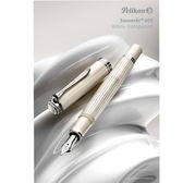 德國 Pelikan 百利金 M605 Souverän 特別版 透明白條 14K鋼筆