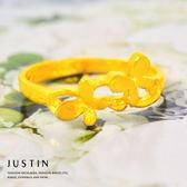 Justin金緻品 黃金戒指 甜蜜蝴蝶 金飾 純金女戒指 9999純金 金戒子 花朵