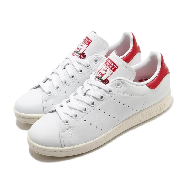 【海外限定】adidas 休閒鞋 Stan Smith 白 紅 男鞋 女鞋 愛心 情人節 玫瑰 復古 【ACS】 EH1736