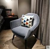 單人沙發北歐單個沙發臥室椅子現代簡約小沙發房間休閒書桌椅陽台