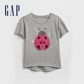 Gap女嬰幼童 妙趣圖案短袖圓領T恤 336716-甲蟲圖案