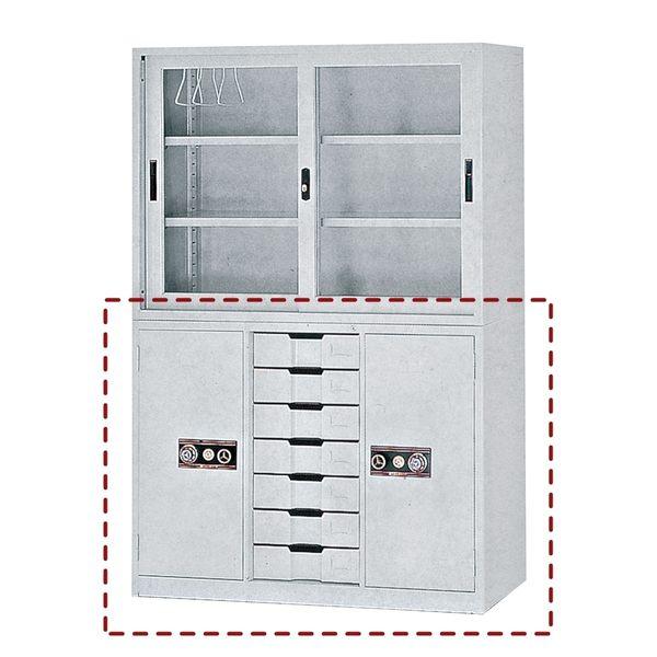 【森可家居】4尺中7抽公文櫃下座 7JX284-13 理想櫃 資料櫃 檔案櫃