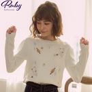 上衣 刺繡星球針織長袖上衣-Ruby s...