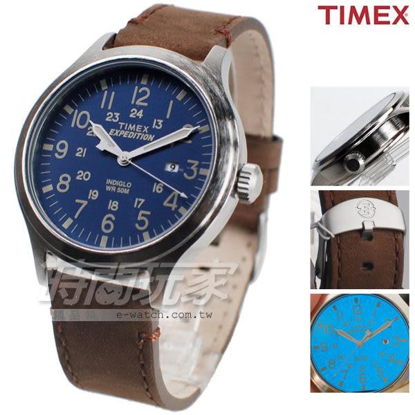 TIMEX 天美時 夜光顯示 24小時顯示 藍x咖啡色 都會男錶 TXT4B06400 運動錶 軍錶  復刻系列