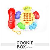 兒童 啟蒙 電話 玩具 親子 仿真 遊戲電話 寶寶學習  故事 互動 學習 *餅乾盒子*