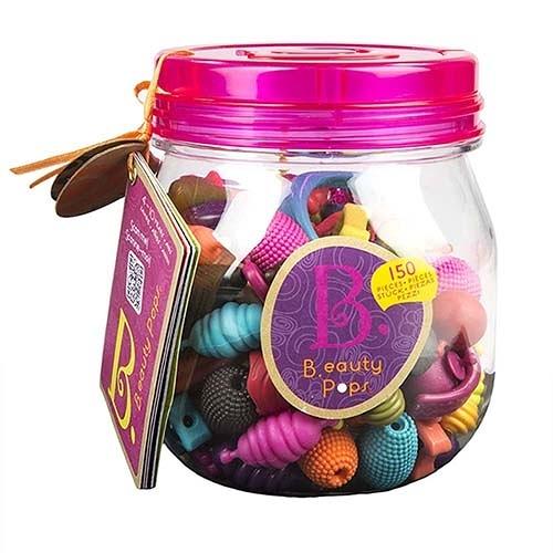 《 美國 B.toys 感統玩具 》波普珠珠-蜂蜜罐150pcs ╭★ JOYBUS玩具百貨
