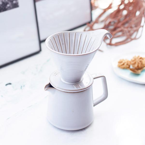 陸寶LOHAS Pottery 悠享咖啡滴濾套組 滴濾+咖啡壺