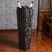 山水箭筒書畫字畫筒缸卷軸畫筒傘筒中式落地大花瓶擺件客廳 歐亞時尚