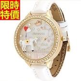鑽錶-復古有型獨特女手錶2色5j91【巴黎精品】