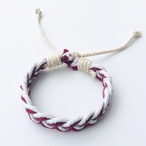 手鍊:日韓手工編織手繩情侶