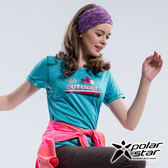 PolarStar 女吸排圓領短袖上衣『藍綠』P18156 排汗衣 排汗衫 露營.戶外.吸濕排汗.透氣快乾.抗UV排汗衣