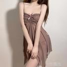 性感睡衣女夏季2021年新款蕾絲吊帶睡裙薄款透視休閒家居服潮ins 一米陽光