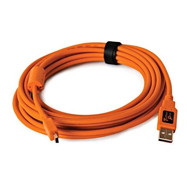 黑熊館 Tether Tools CU5451 USB 傳輸線公轉MINI B5PIN 專業聯機拍攝線 4.6M