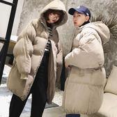 冬季中長款外套男女情侶裝加厚棉襖子韓版潮流寬鬆面包服加厚棉衣 免運直出