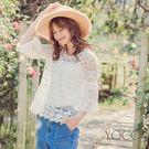 東京著衣【YOCO】清新優雅緹花蕾絲兩件式上衣-S.M.L(180353)